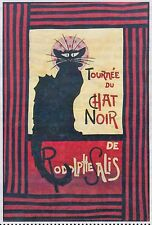 Le Chat Noir - applique & pieced wall quilt PATTERN - Starry Night Hollow