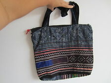 THAILAND HAND MADE KNITTED ETHNIC TRIBAL COLOURFUL FABRIC TOTE CARRY HAND BAG 08