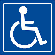 "Handicap Logo Signs Window Table Vehicle Sticker Decal Label 4""x4"""