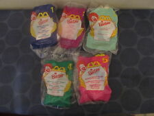 Barbie 1996 McDonalds Happy Meal set of 5 NEW SEALED Rapunzel Angel Holidays++