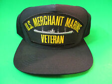 US Merchant Marine Veteran Snap Back Hat Cap. USA Made