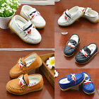 Kid Boys Girls Soft Rubber Slip-On Casual Loafers Outsole Flat Sneaker Shoes