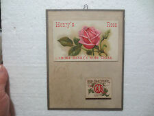 "TOBACCO ADVERTISING CALENDAR "" HENRY`S ROSE CIGAR "" 1910 TOBACCO LABELS  RARE"