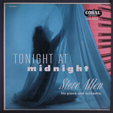 STEVE ALLEN: Tonight At Midnight LP (Mono, sm wobc, 2 neat clear taped seams) E
