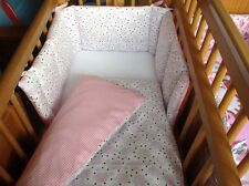 Cushi cot girls swing crib bumper and duvet set Baby elephant lavender pink new