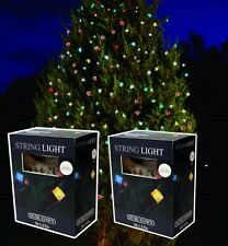 14m LED SOLAR POWER COLOURED OUTSIDE GARDEN CHRISTMAS TREE FAIRY LIGHTS SLSL4x2