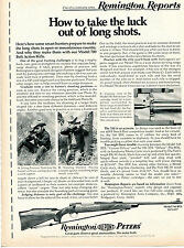 1972 Print Ad of Remington Reports Model 700 Bolt Action Rifle