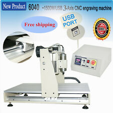 Free shipping! CNC ROUTER USB 6040 1500W 3axis ENGRAVER/ENGRAVING MACHINE UK