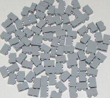 Lego Lot of 100 New Light Bluish Gray Bricks 1 x 2 Dot Building Blocks Parts