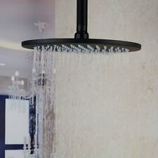 12 Inches Ceiling Mount Stainless Steel ORB Black Round Rainfall Shower Head