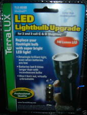 TERRALUX CREE LED BULB FOR 2 & 3 CELL MAGLITE FLASHLIGHT 140 LUMENS TLE 6EXB