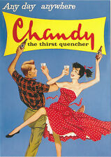 ROBERT  OPIE  ADVERTISING  POSTCARD  -  CHANDY  THE  THIRST  QUENCHER