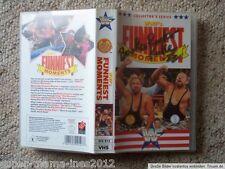 WWF WCW Wrestling VHS Funniest Moments Bushwacker Luke signed english WWE ECW