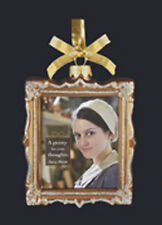 KURT S. ADLER DOWNTON ABBEY GLASS PICTURE FRAME ORNAMENT - DAISY/MRS. PATMORE