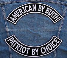 Large PATRIOT BY CHOICE Rockers Biker Motorcycle Patch by DIXIEFARMER