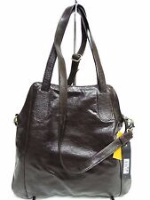 NWT Latico Satchel Bag Espresso Leather W/Back Slip Pocket Antique Ornaments