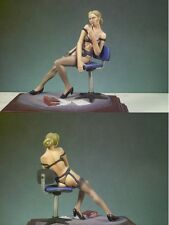 ANDREA MINIATURES 3D GIRLS G-029 - SECRETARIA - 80mm WHITE METAL