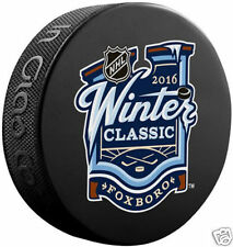 2016 WINTER CLASSIC PUCK Boston Bruins vs Montreal Canadiens FOXBORO GILLETTE