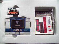 Transformers G1 1984 Soundwave Pre Rub Complete w Unused Contents & Extras z