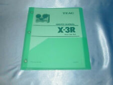 TEAC  X-3R REEL TO REEL SERVICE  MANUAL FREE SHIPPING