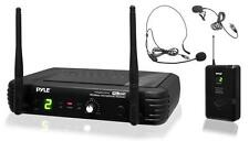 New Pyle PDWM1904 2 Mics UHF Wireless Microphone System W/ Selectable Frequency