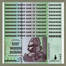 10/ 50 TRILLION ZIMBABWE DOLLAR MONEY CURRENCY.UNC* USA SELLER*