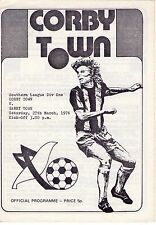 1975/6 Corby Town v Barry Town programme