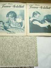 13 SCHNITTMUSTER Meyers schweizer Frauen- und Modeblatt 1938 Heft 13 14 15. Jhg