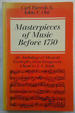 CARL PARRISH & JOHN F OHL.MASTERPIECES OF MUSIC BEFORE 1750.S/B 1975.J S BACH