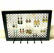 DECORATIVE JEWELRY ORGANIZER EARRING NECKLACE BRACELET WALL MOUNT HOLDER DISPLAY