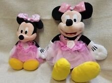 2 Mickey Mouse Plush in Minnie Clothes & Bow 160778