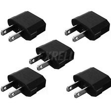 5pcs European EU to US USA Travel Power Charger Adapter Plug Outlet Converter