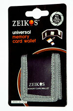 Zeikos Electronics ZE-MC3A Memory Card Case Wallet Black Fabric Holds 3 Cards