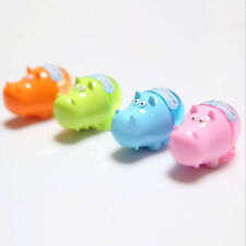 Stationery Hippo Pencil Sharpener with Two Rubbers Eraser Student Kids Cute Top