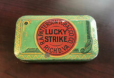 OLD VINTAGE LUCKY STRIKE TOBACCO TIN !! R. A. PATTERSON TOBACCO CO. !!