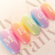 1 Sheet Nail Art Water Decals Capital Letter Number Transfer Sticker DIY DLS-244