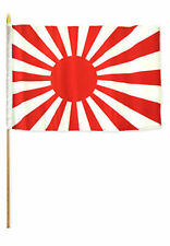 "12x18 12""x18"" Japan Rising Sun Stick Flag wood staff"