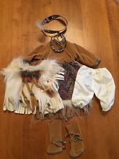 "Native American Indian Dress for 18"" Dolls Girl Boots Jewelry"