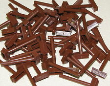 LEGO LOT OF 50 NEW BROWN MINIFIG BROOMS TOWN CITY BOY GIRL PIECES