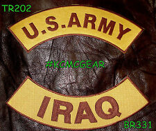 US ARMY IRAQ  WAR Patches Rockers set for vest or Jacket COMBAT COLORS NEW