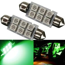 2x 41mm, GREEN Suit most cars dome interior light long life 50,000hrs