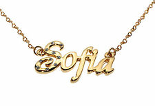 SOFIA 18ct Gold Plating Necklace With Name - Name Plate Jewellery Neckless Gifts