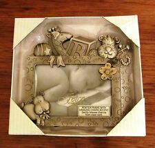 FETCO HOME DECORE BABY PEWTER PICTURE FRAME; HANGING CHARM ACCENT  W ANIMALS