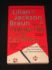 wmf  SALE : LILIAN JACKSON BRAUN ~ THE PRIVATE LIFE OF THE CAT WHO...