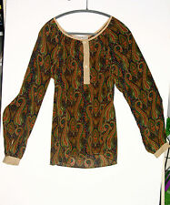 NEW WHAT GOES AROUND COMES AROUND 100% SILK BLOUSE/SHIRT...SIZE M