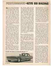 1966-1967 FORD SOHC 427 ENGINE - GO RACING  ~  NICE ORIGINAL ARTICLE