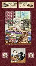 "BTY ""Krafty Kittens"" Block Panel SPX Fabrics 100% Cotton Quilt Shop Fabric"