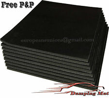 9 X Sheets Car Vehicle Sound Deadening Insulation Proofing Isolator Damping Pads
