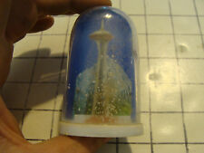 vintage 60's-70's Plastic Snow Globe Hong Kong: Space Needle Seattle Wa.