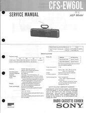 Sony Original Service Manual per CFS EW 60 L